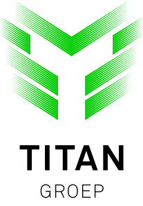 Titangroep logo wit